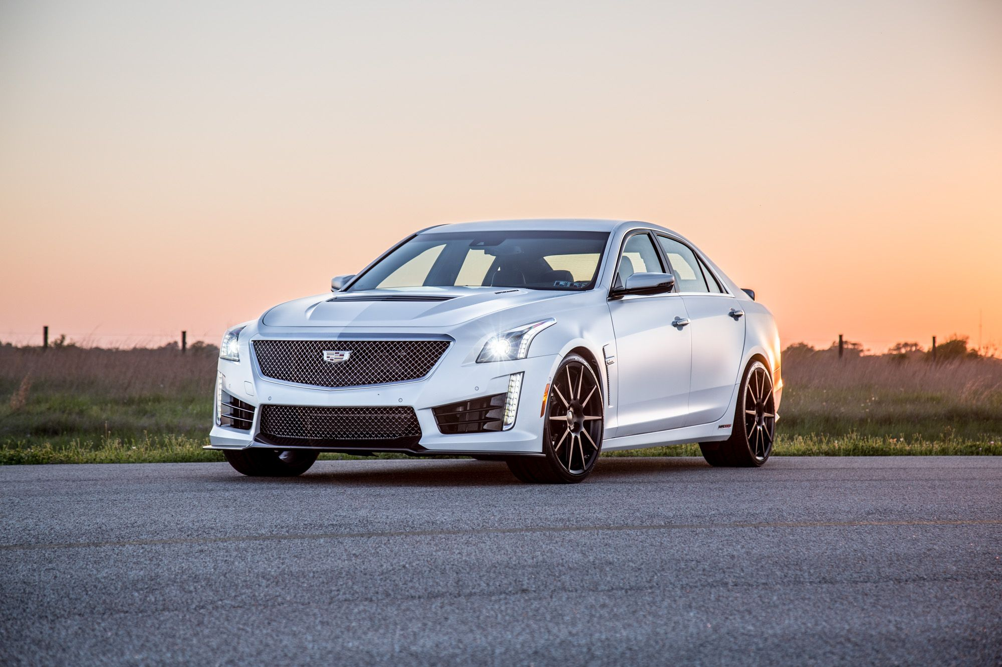 Hennessey performance offers the supercharged engine upgrade for the 2016 2017 cadillac cts v which makes it the fastest and most powerful sedan in the