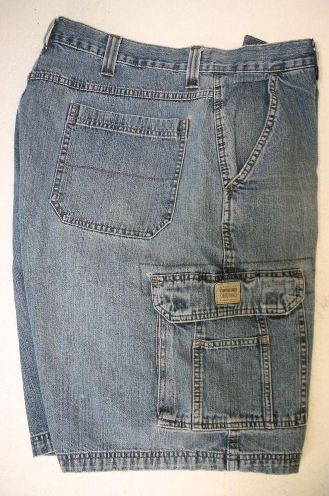 23a0b97820 Wrangler Hero Denim Cargo Shorts (Mens 38) Zipper Blue Jargo Work Gear 2720  #Wrangler #CargoShorts #Jargo #DenimBlue