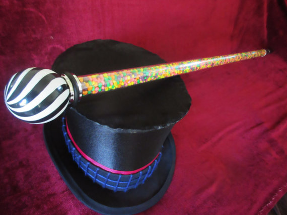 Willy Wonka Cane Replica Cosplay Prop - Tim Burton Charlie and the