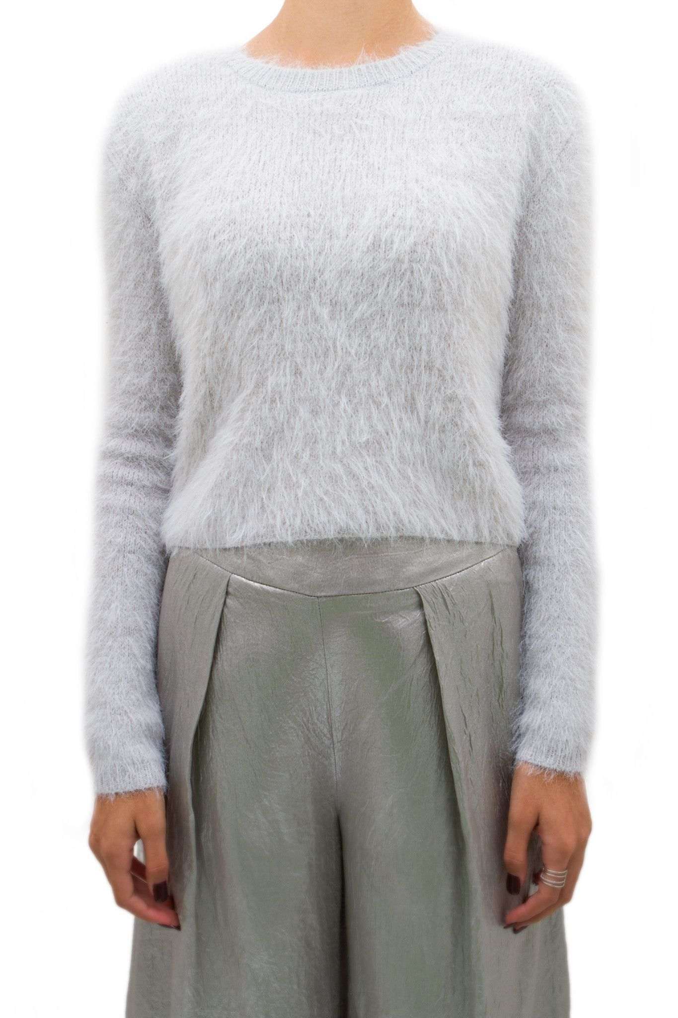 J.O.A. Light Grey Fuzzy Sweater | Tryin to be a stylish mofo ...