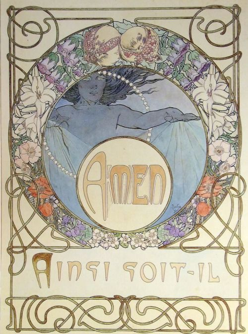 rahulssecondblog: ~ Alfons Mucha (1860-1939), Le Pater (Illustration for the Lord's Prayer), 1899