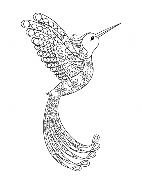 Pretty Bird Art Therapy | Coloring Pages | Insect coloring ...