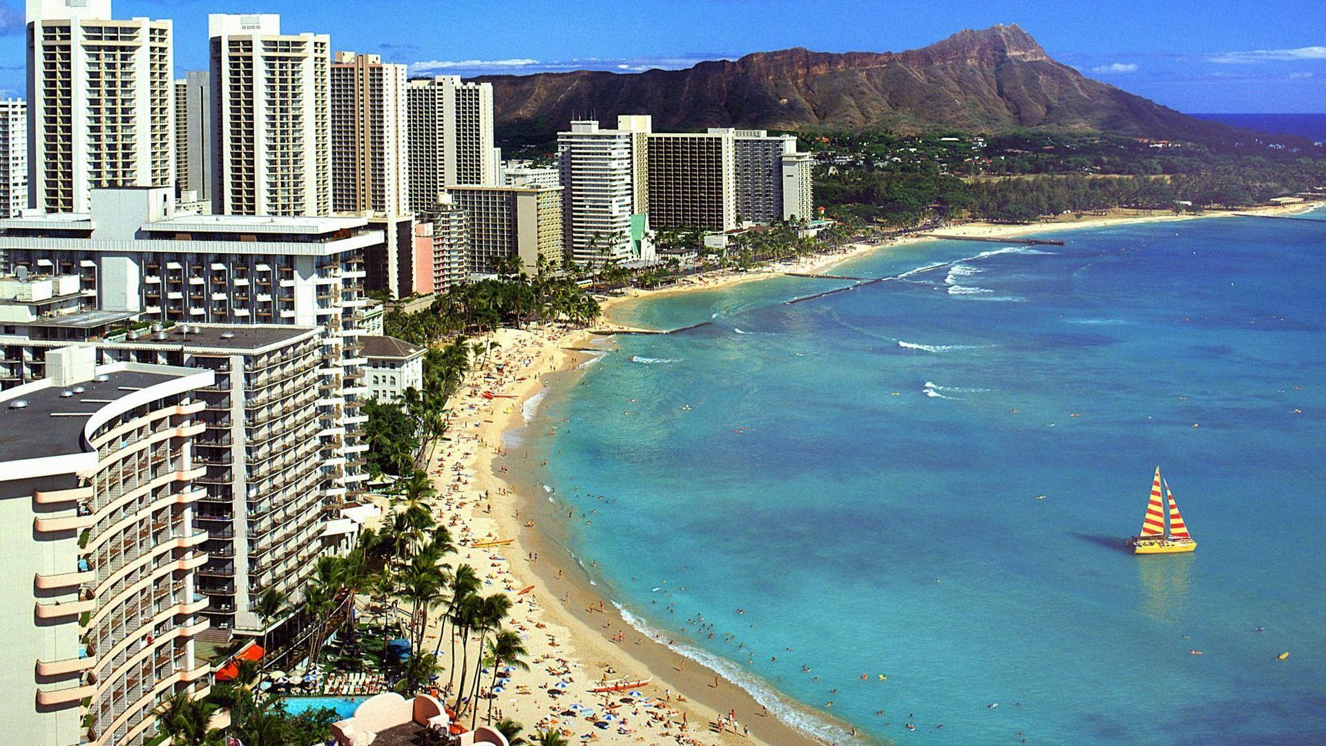 Hawaii Diamond Beach Hd Wallpaper Tempat Liburan Travel Tour