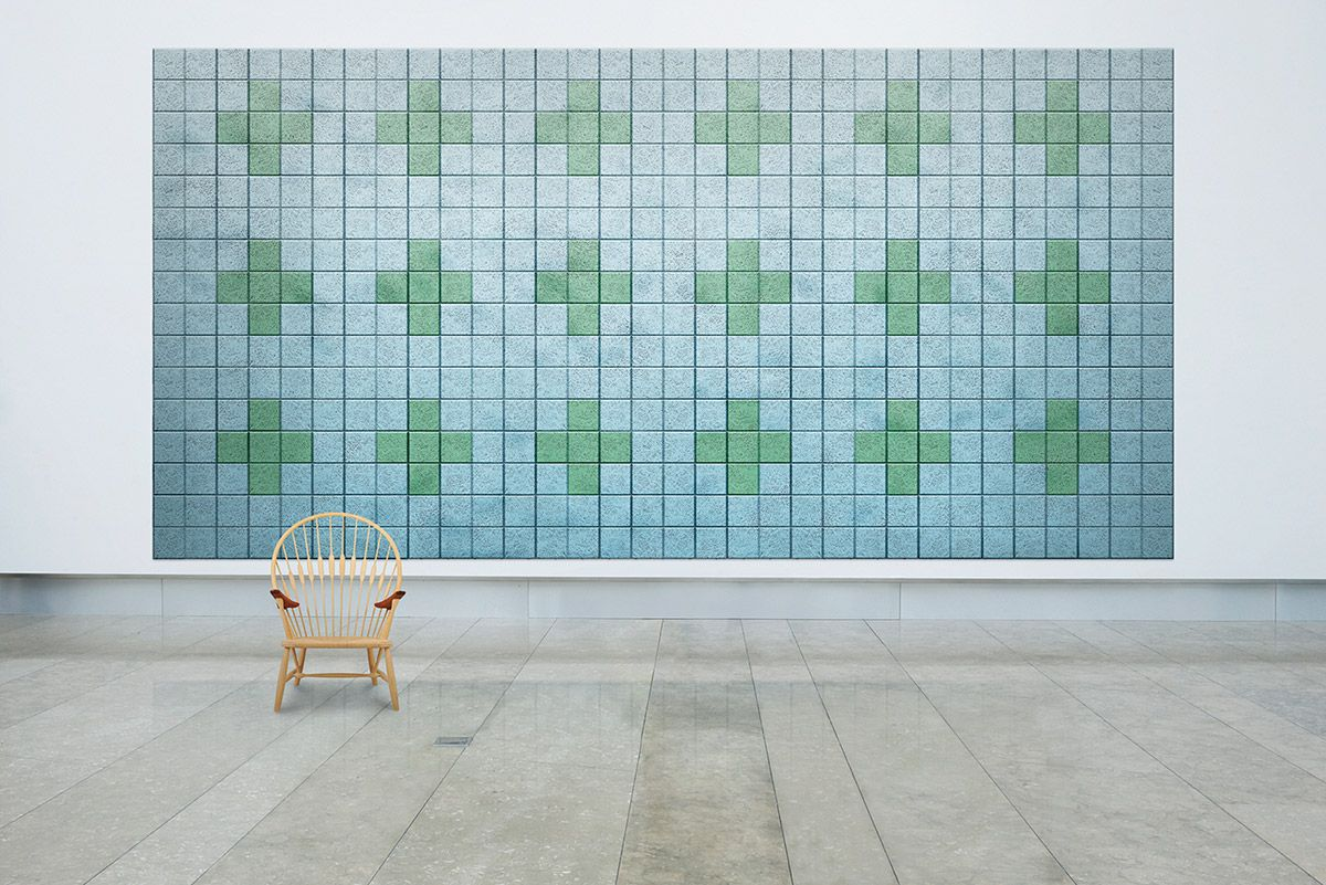 Tiles Square, Sound Absorbing wall tiles for shared workspace ...