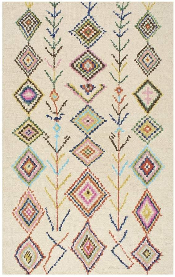 Nuloom Belini Geometric Wool Blend Rug Thesis Fabric