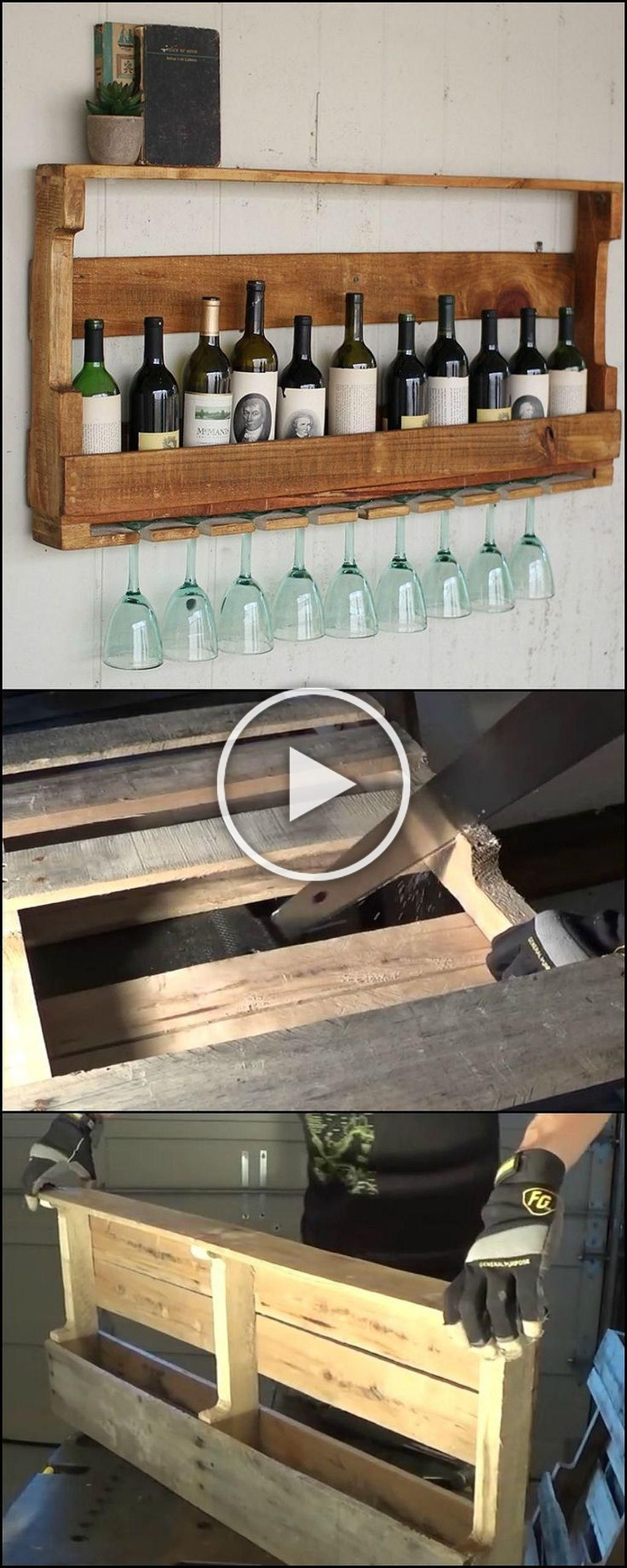 Weinregal Diy Diy Cheap Storage Made From Pallets (45) In 2020 ...