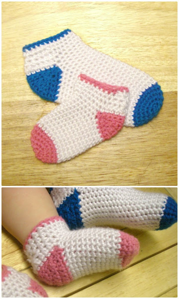 Crochet Socks - 35 Free Crochet Socks Pattern | Crochet socks ...