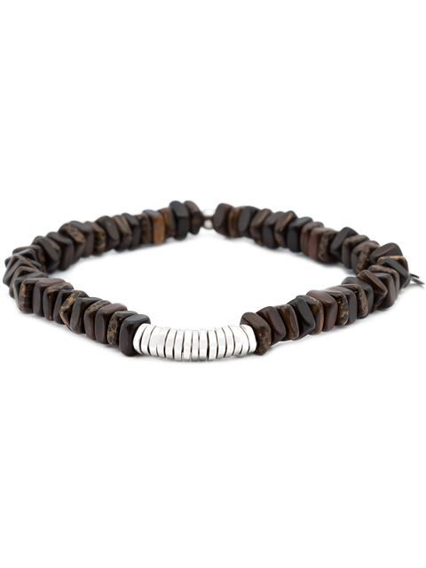 Tateossian Mens Round Rutilated Quartz Beaded Bracelet cgeKgg