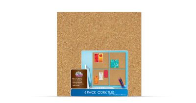 4 Pack Of 12 By 12 Cork Tiles Cork Tiles Cork Board Dorm Decorations
