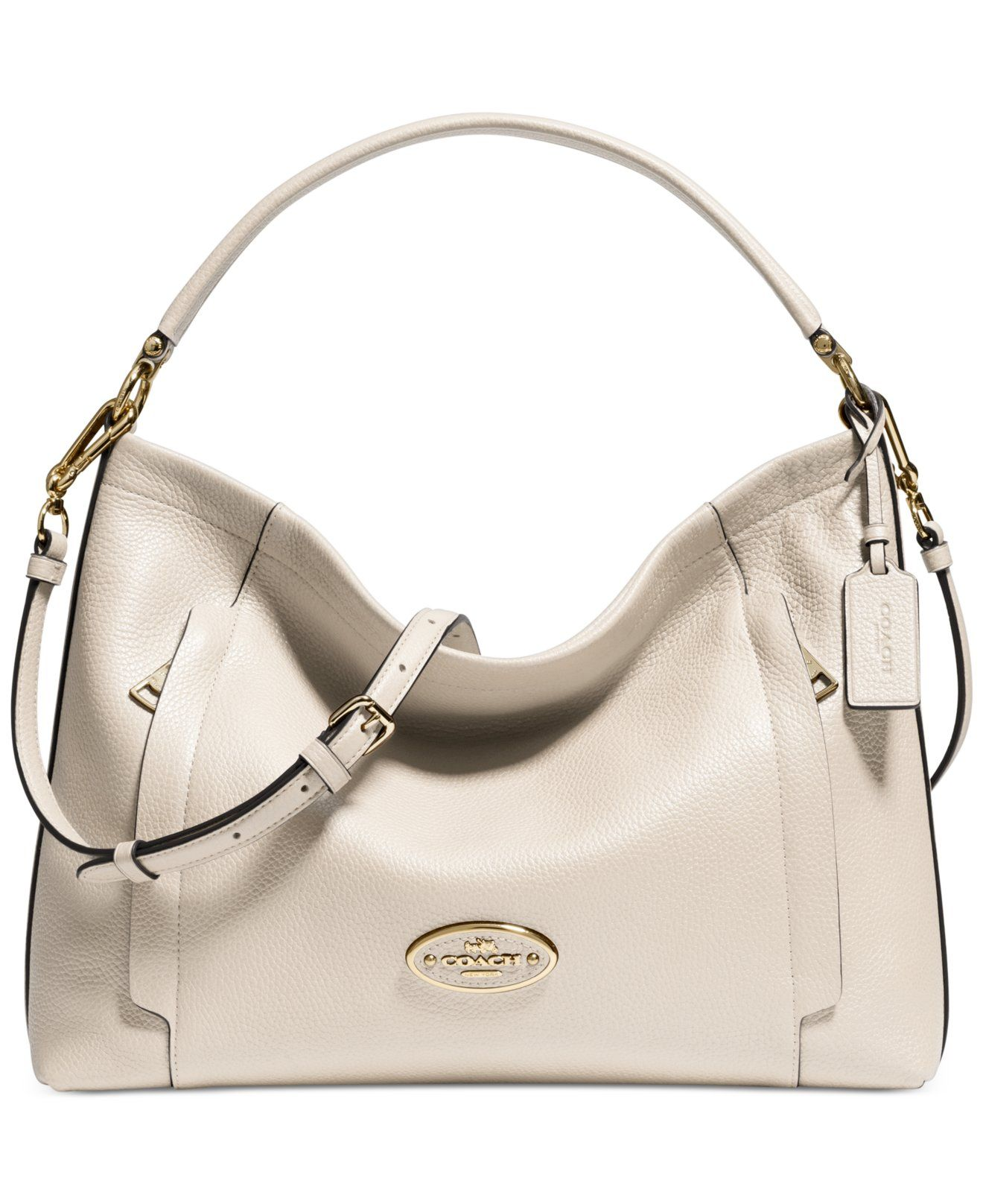 COACH SCOUT HOBO IN PEBBLE LEATHER - Color  Light Gold Chalk  love a hobo  bag! e4433baca12dc