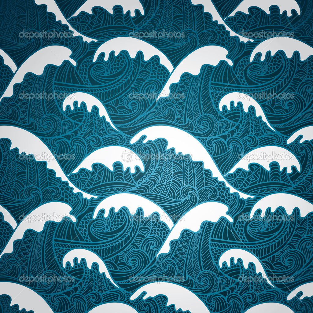 Waves Seamless Pattern Stock Illustration 23270146