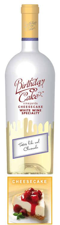 Cheesecake White Wine Specialty Birthday Cake Wines