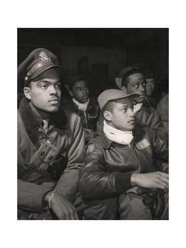 Members of the 332nd Fighter Group Attending a Briefing in Ramitelli, Italy, March, 1945 Art Print by | Art.com