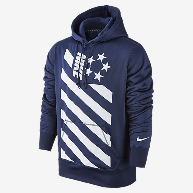 Mens Nike Ko Field General Midnight Navy/White Training Hoodie