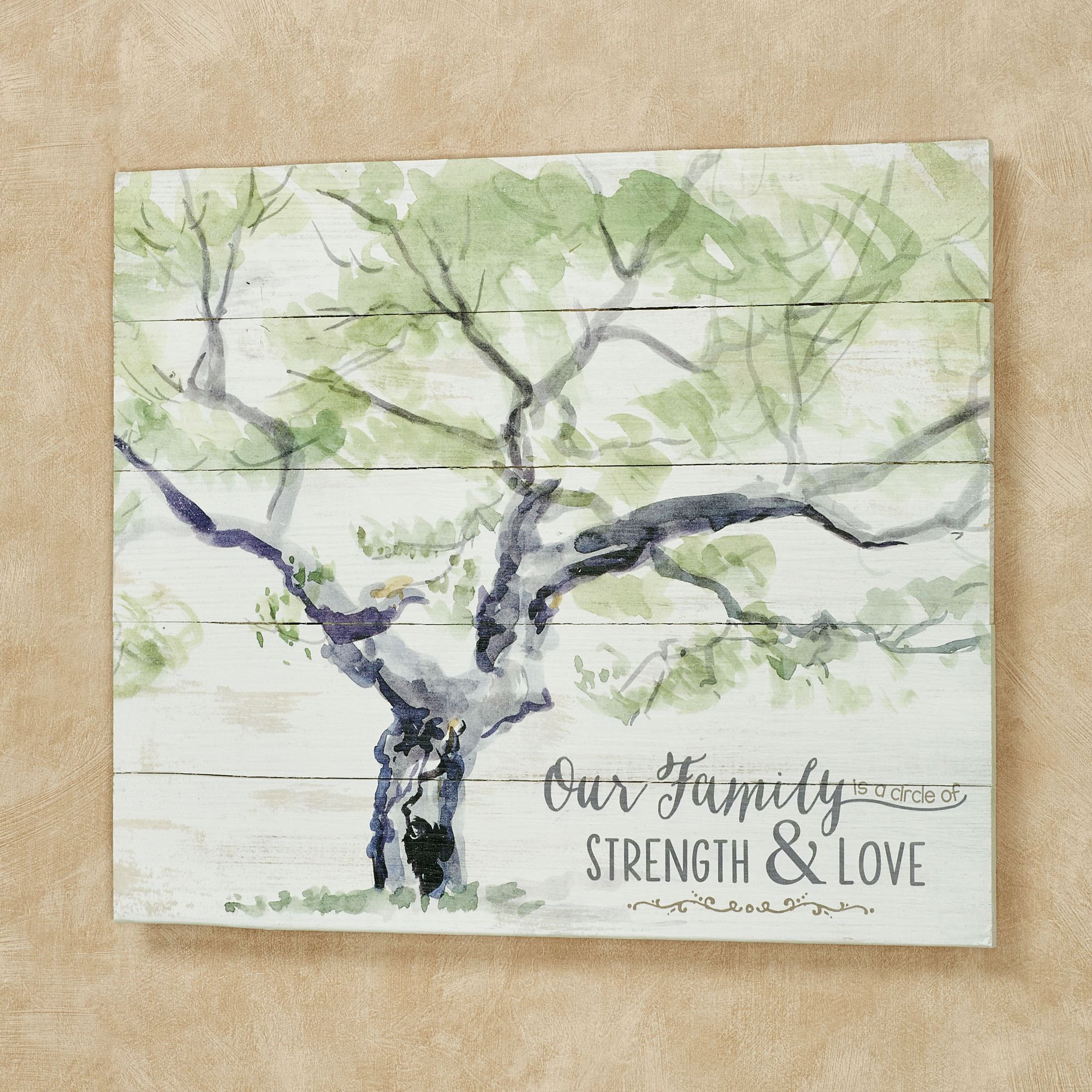 Strength And Love Family Tree Wooden Wall Plaque Family Quotes