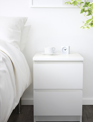 Malm Bedside Table Ikea Ikea Malm White Bedside Table Drawers For Sale