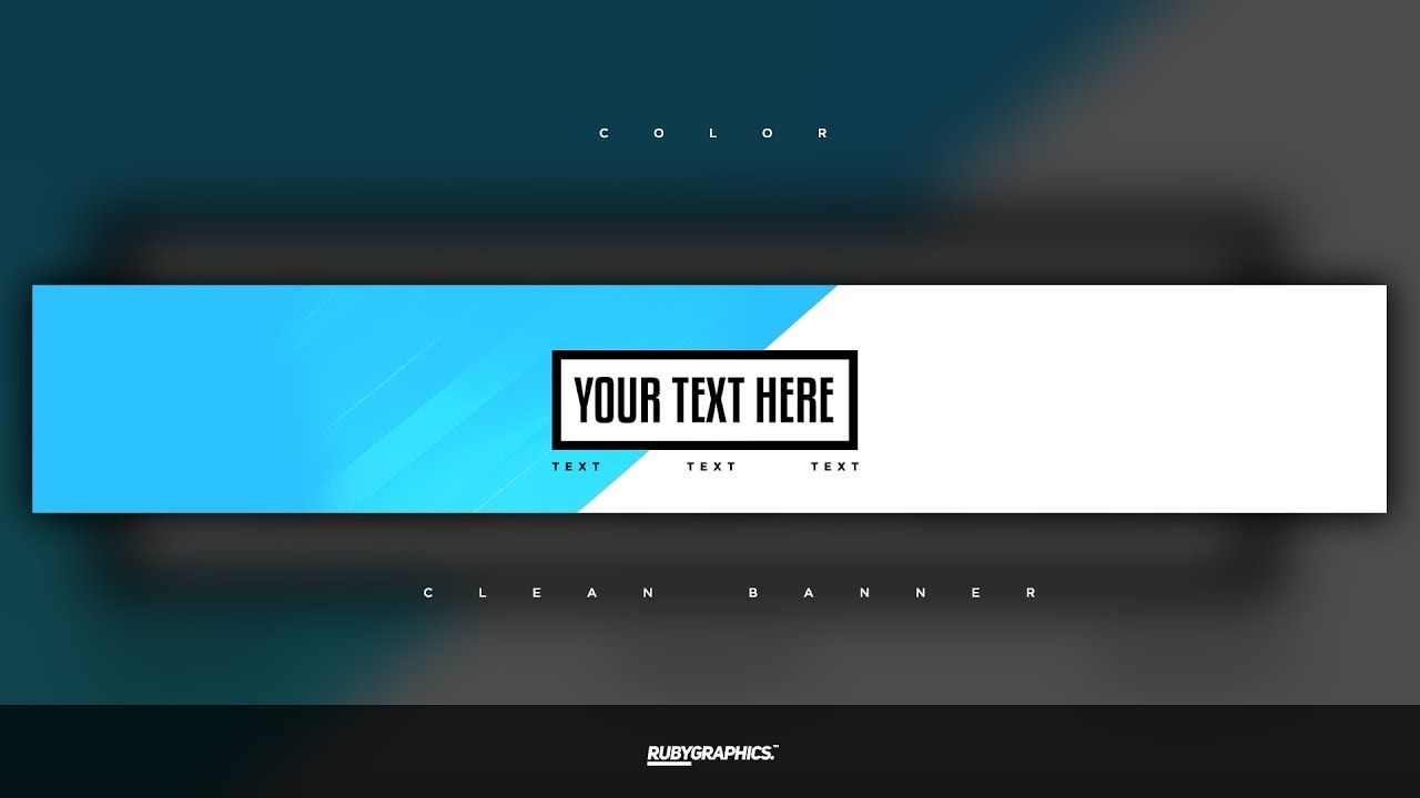 Free Gfx Free Photoshop Banner Template Clean 2d Custom Colors Banner Design Intended For A Banner Template Photoshop Youtube Banner Template Banner Template
