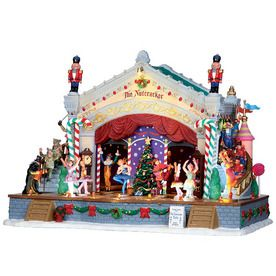 Carole Towne 7-Piece Porcelain Lighted Musical Animatronic ...