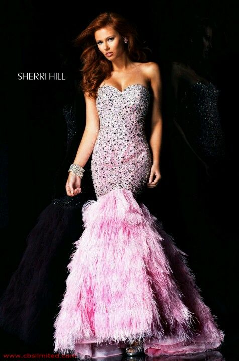 sherry hill 2590 dress front - pink   Vegas Bride (my look for party ...
