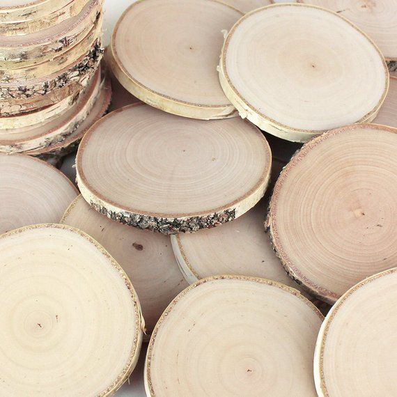 25 Birch 2 3 Wood Slices Rustic Tree Branch Slices For Craft Natural Wood Slices Birch Wood Slices Wood Slices Wooden Slices Natural Wood