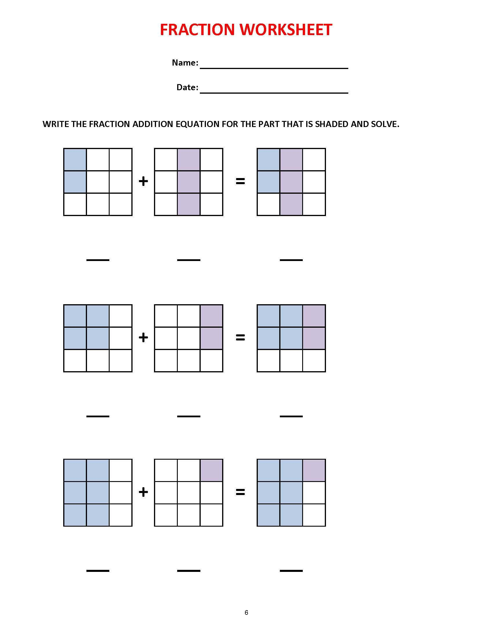 Fractions 36 Worksheets Equivalent Fractions Mixed