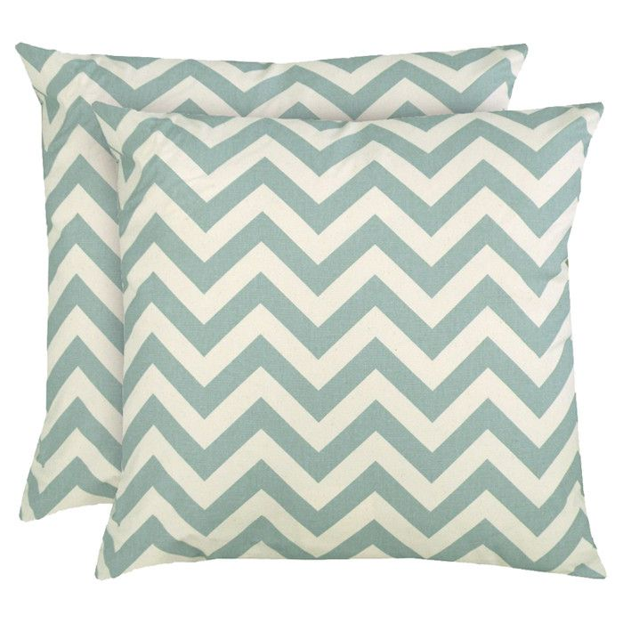 Chevron Pillow in Powder Blue (Set of 2)