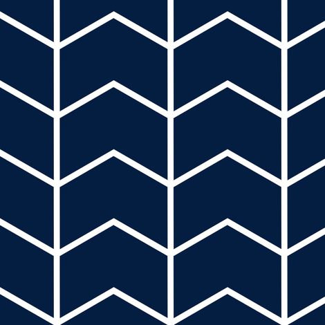 Chevron // Navy fabric by littlearrowdesign on Spoonflower - custom fabric
