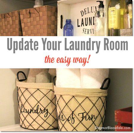 update your laundry room - the easy way! #laundryroom #ebayguides #spon #organizing #DIY #homedecor #storage #walldecor