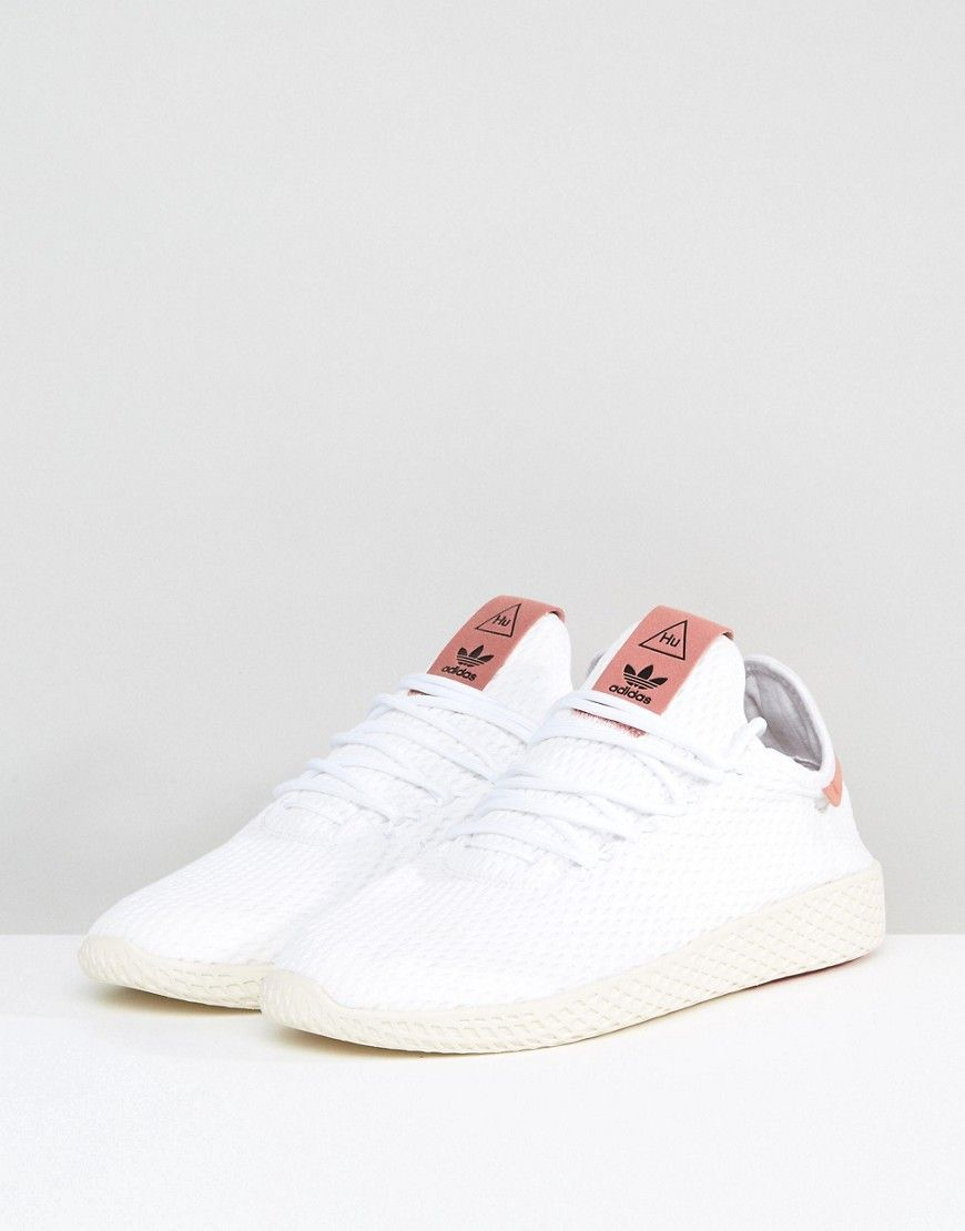 new style 1a709 3af2f adidas Originals x Pharrell Williams Tennis HU Sneakers In White CP976