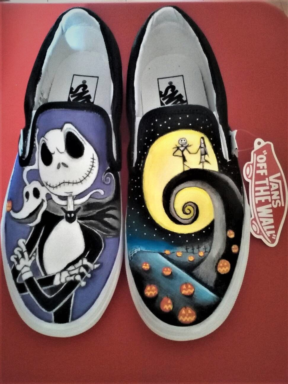 Nightmare before Christmas Vans shoes, hand-painted by The Noir ...