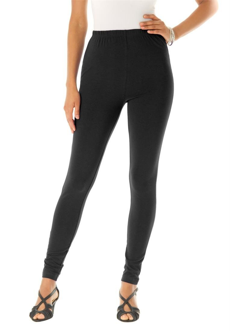 5b79b5a9034 Roamans Women s Plus Size Tall Essential Stretch Knit Ankle Length Leggings