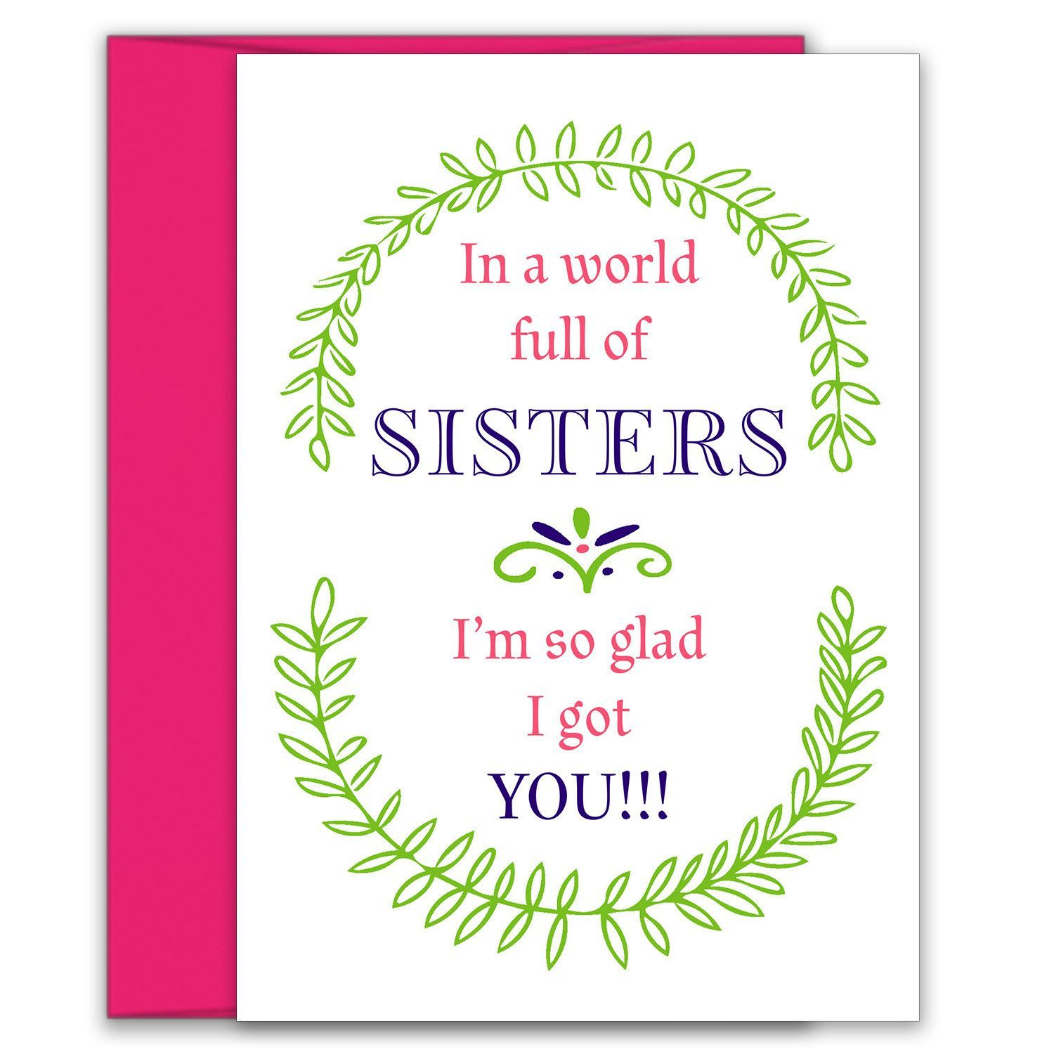 In A World Full Of Sisters Birthday Card For Sister Birthday