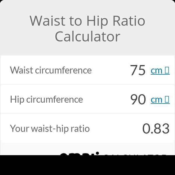 Calculate your waist hip ratio   Health Calculators