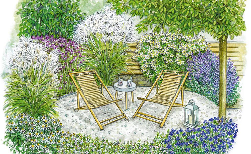 Umnutzung Einer Rasenflache Sitzplatz Im Garten Garten Gestalten Garten Anlegen
