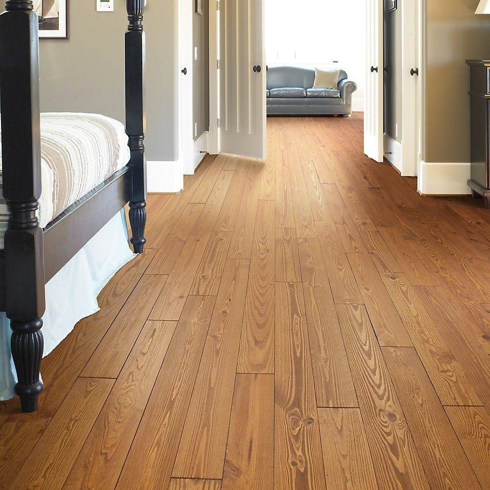 Shaw Pioneer Pine Prairie Pine 3 4 In Thick X 5 1 8 In Wide X Random Length Solid Hardwood Flooring 23 30 Sq Ft Case Dh84400632 The Home Depot House Flooring Shaw Flooring Hardwood Farmhouse Flooring