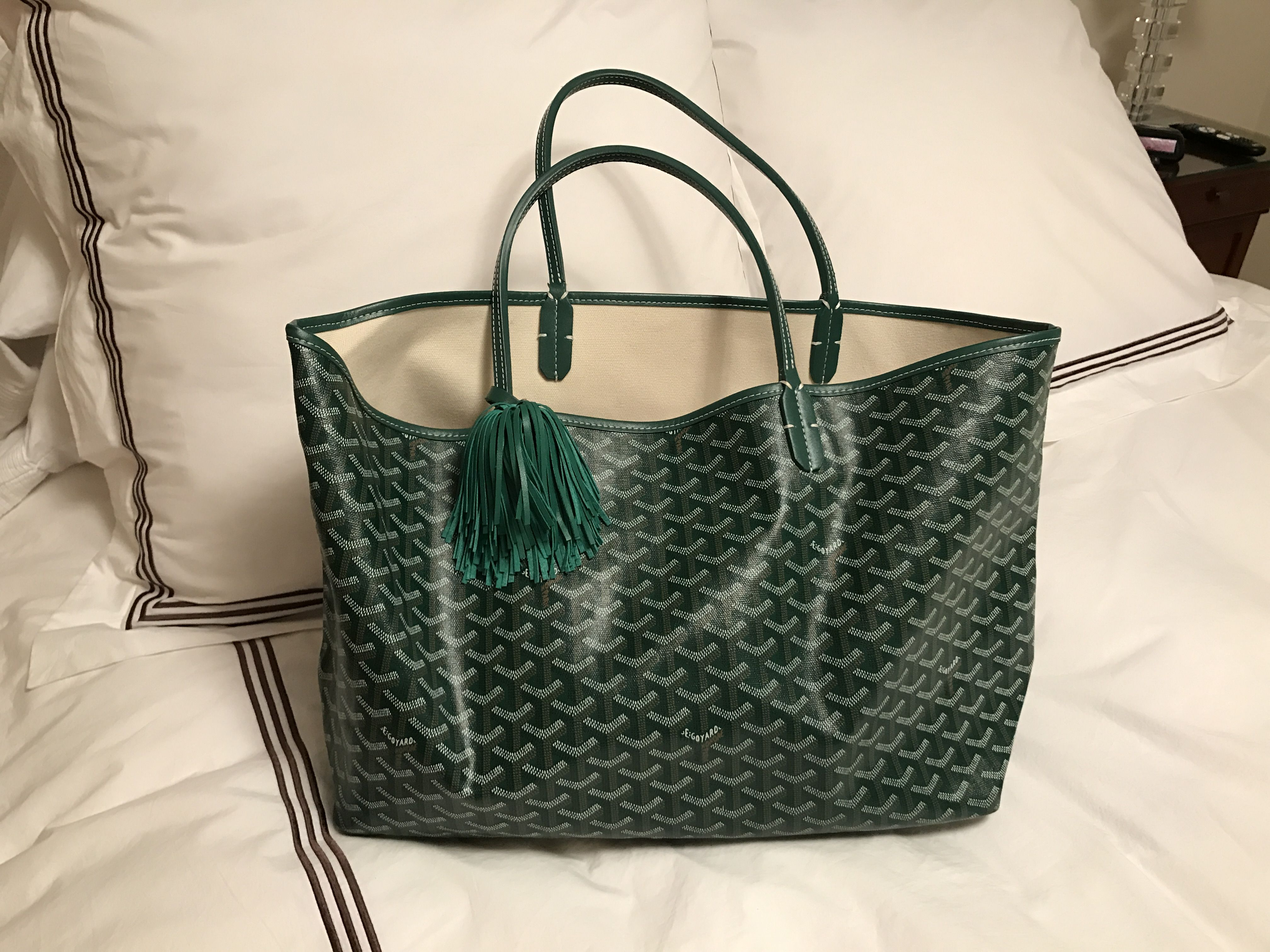 Love my new Blair Ritchey Tassel for my green Goyard bag 💕  822386b8fba45