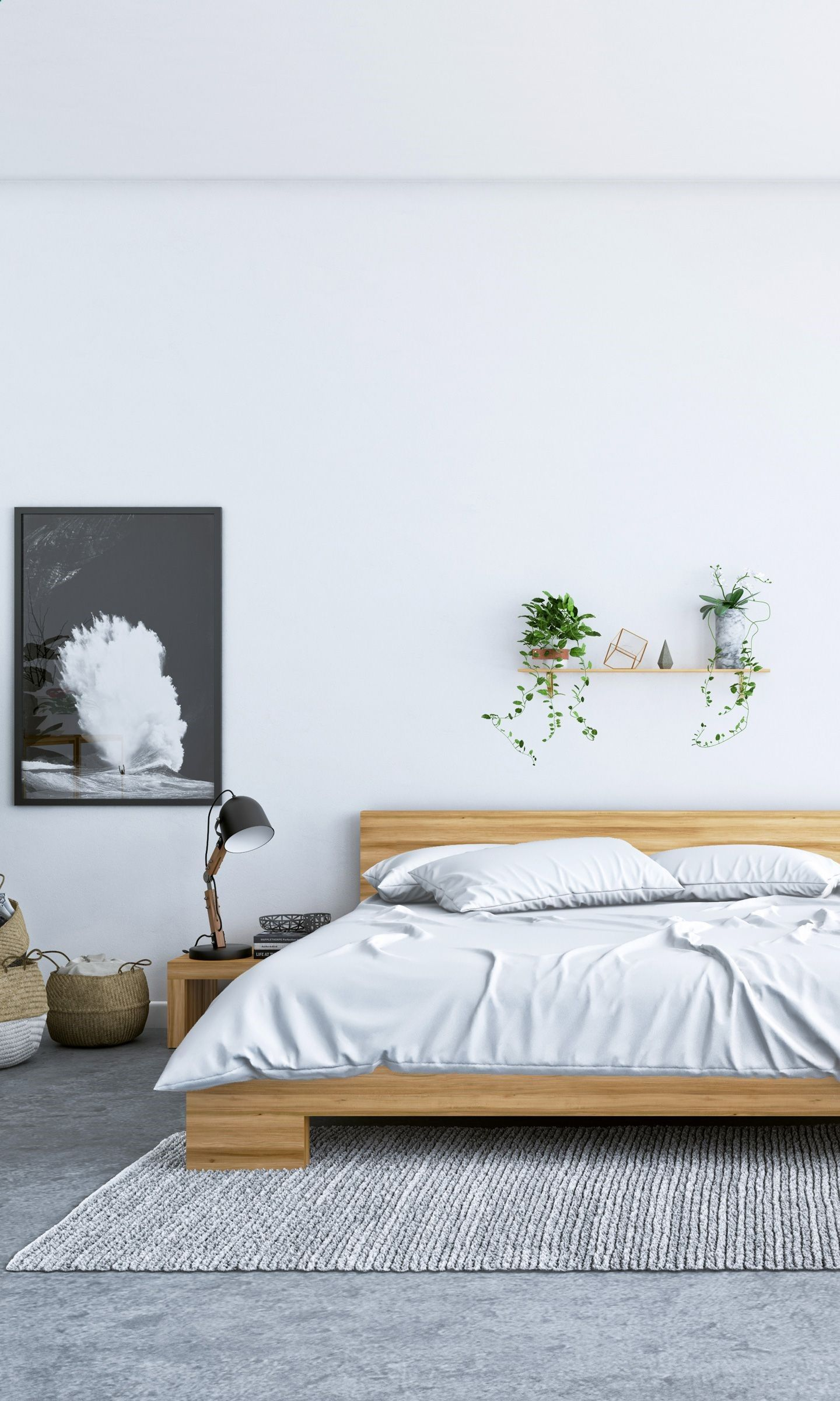 Sleep Well With The Fredrik Bed And Night Stand Set