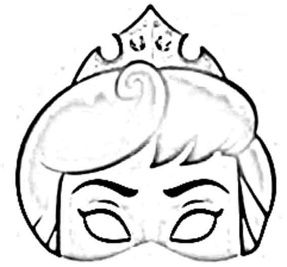 Mascaras de princesas para imprimir, pintar y recortar | imagens ...