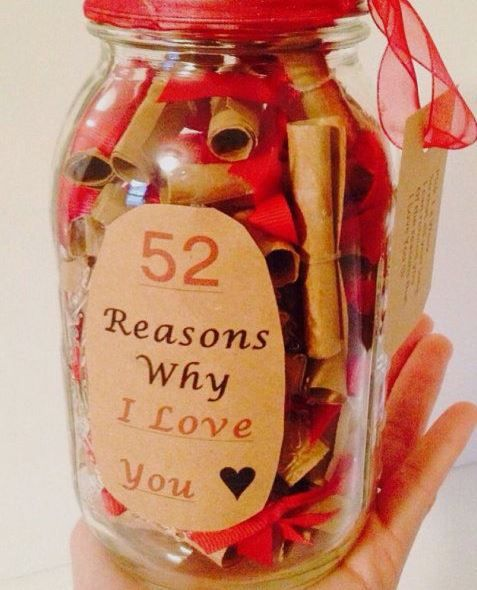 50 Cute Valentine S Day Gifts For Him Society19 Reasons Why I Love You Jar Gifts 52 Reasons Why I Love You
