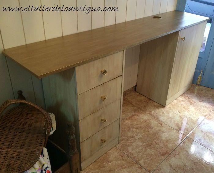 Como pintar muebles de melamina ideas pinterest - Como pintar sobre formica ...
