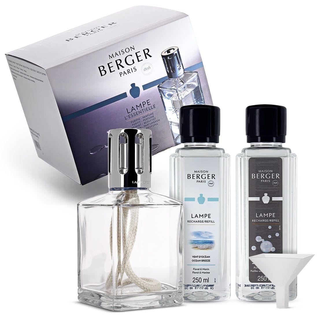 Coffret Lampe Berger Essentielle Carree 3098 39 00 Flacons De Parfum Parfum Maison Lampe En Verre
