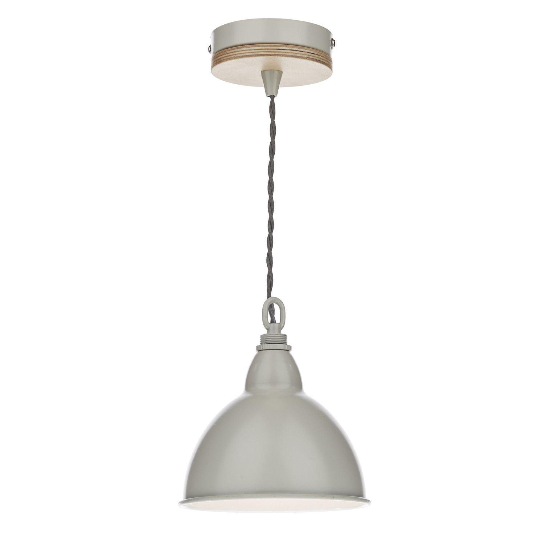 Reece 1 Light Dome Pendant Dar