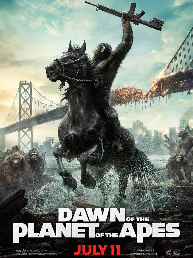 """Human After All - A review of Dawn of the Planet of the Apes"" by Elliott Burton // Shattering effects and troubling commentary on the state of our current political unrest."