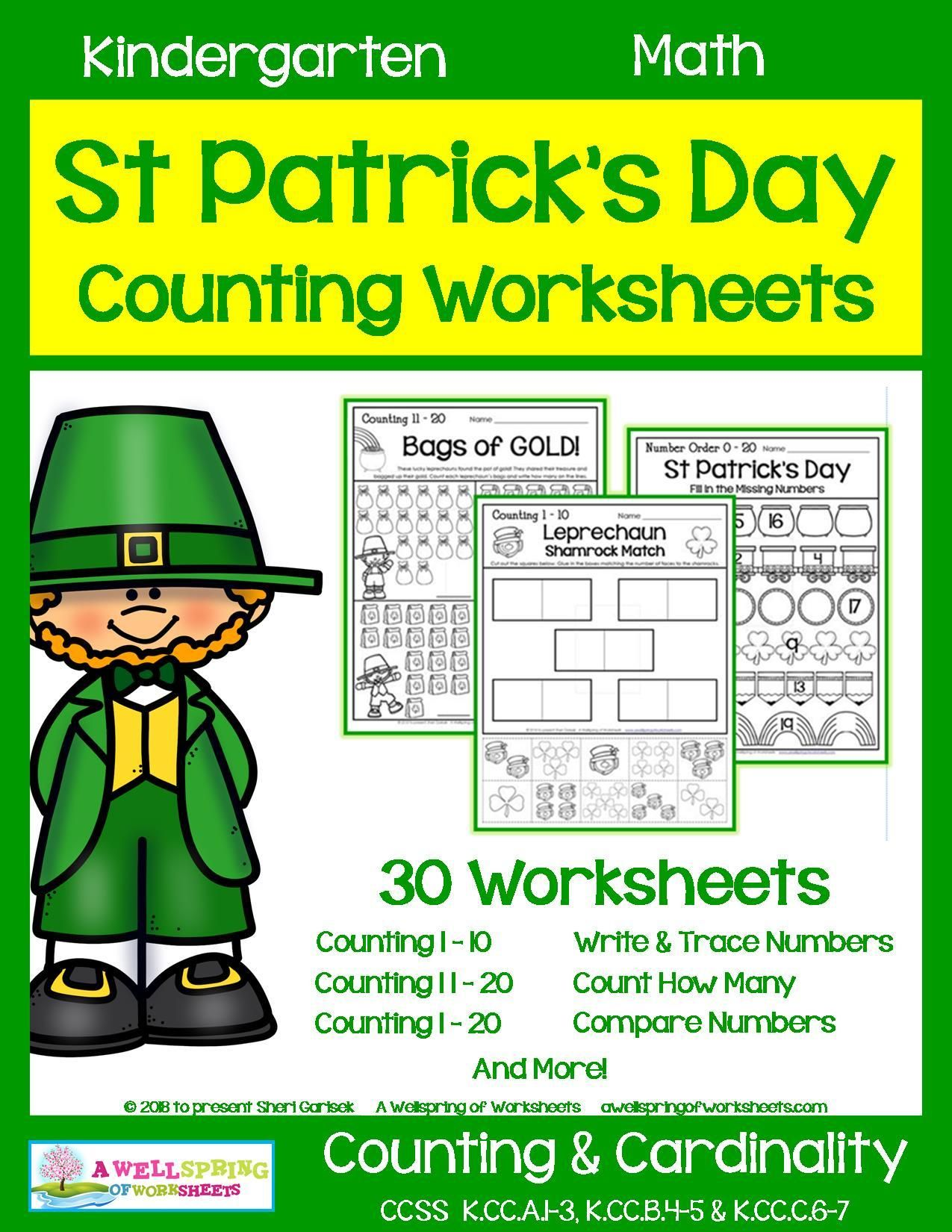 St Patrick S Day Counting Worksheets