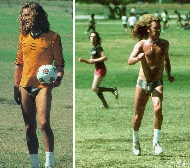 Robert Plant Joined Rod Stewart in Encino Park Saturday, 06-18-1977 for a game of soccer. #robertplant