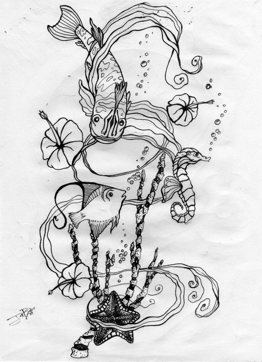 Sea Life Tattoo Design by freaky7styley.deviantart.com   Tattoo ...
