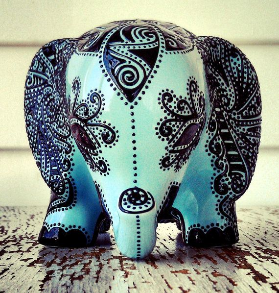 Elephant statue elephant bank baby elephant by stephanieceramics 120 00