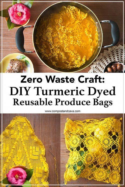 Zero Waste Craft DIY Turmeric Dyed Reusable Produce Bags  Zero Waste Craft DIY Turmeric Dyed Reusable Produce Bags