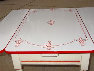 Enamel Top Kitchen Table With 2 Leaves C1930 1940 Top Kitchen Table Kitchen Table Kitchen Tops