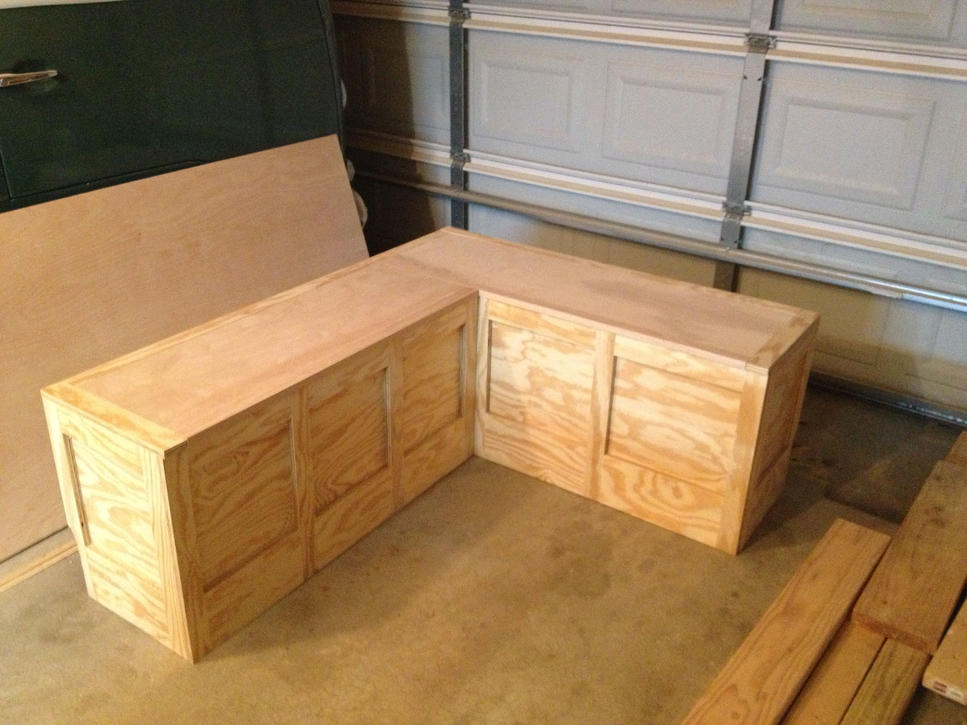 Custom Corner Bench Toy Box